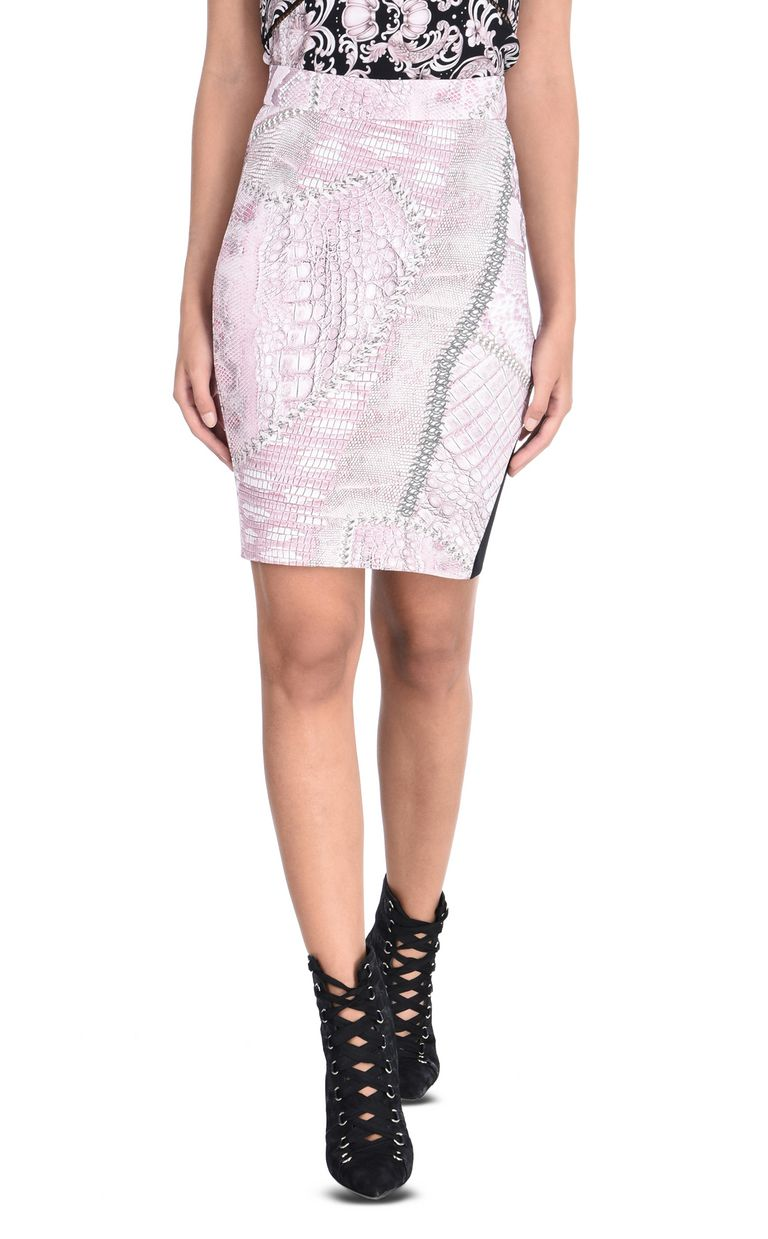 JUST CAVALLI Mini skirt in Cracking Beauty print Skirt Woman f