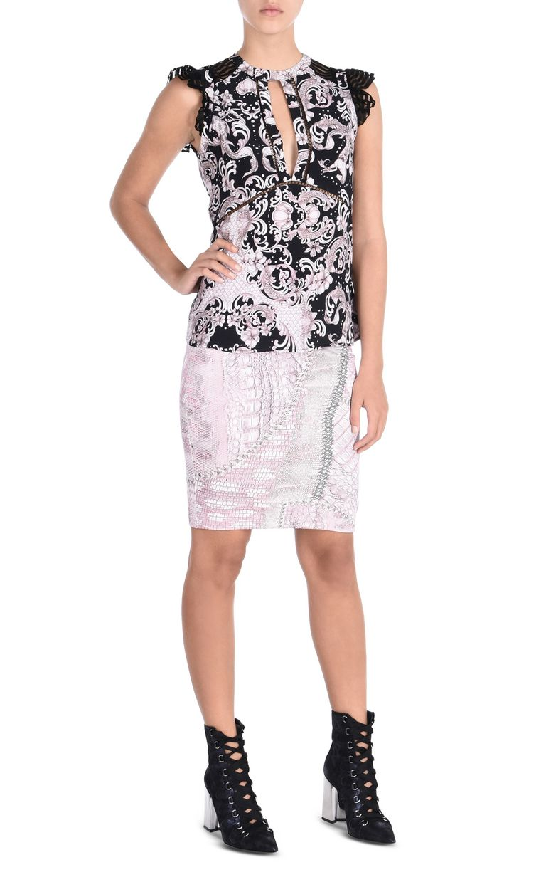 JUST CAVALLI Mini skirt in Cracking Beauty print Skirt Woman r