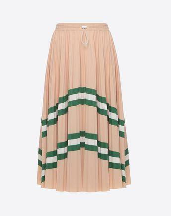 VALENTINO Printed skirt D Pleated Skirt f