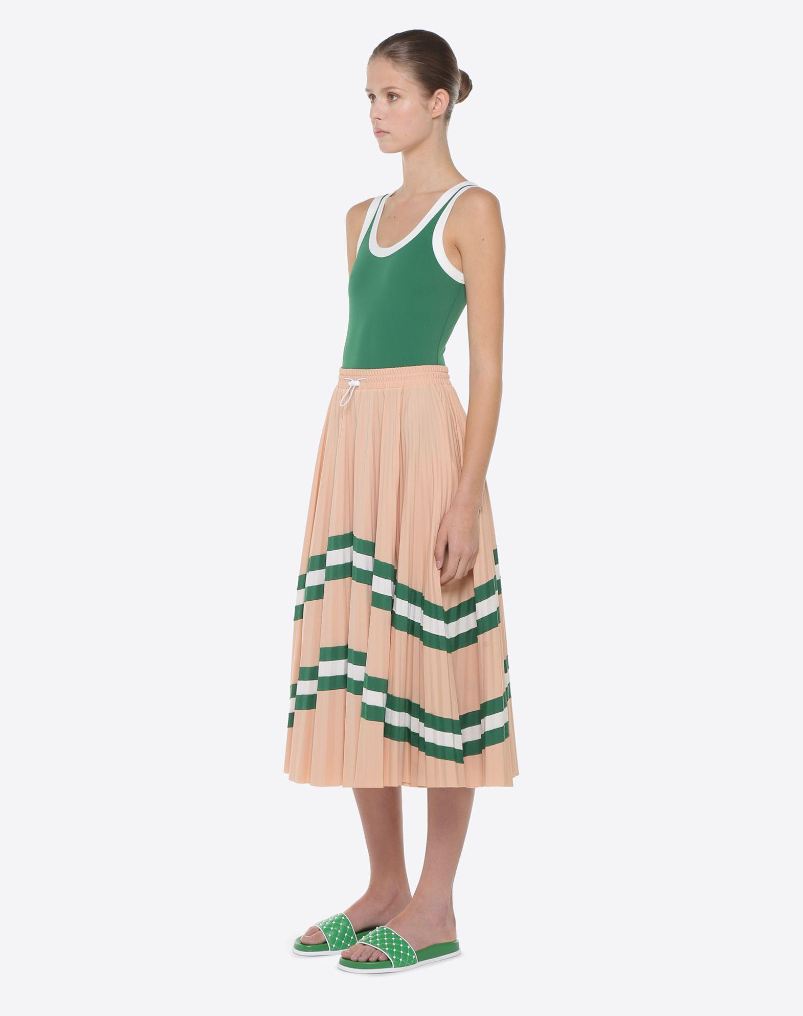 VALENTINO Pleated Skirt Printed skirt D d