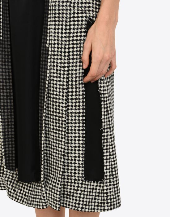 MAISON MARGIELA Décortiqué check wool skirt 3/4 length skirt Woman a