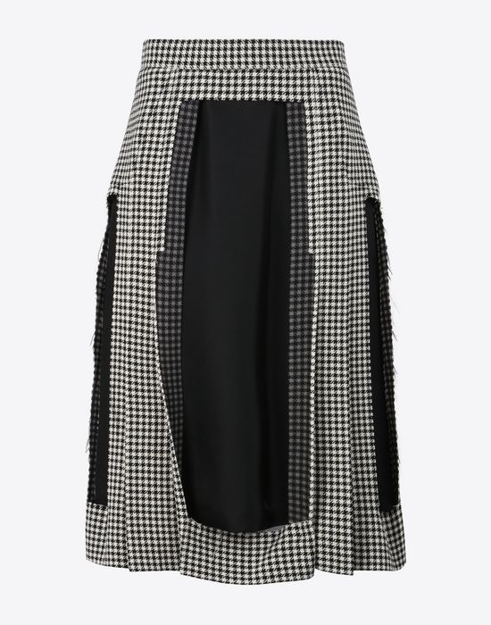 MAISON MARGIELA Décortiqué check wool skirt 3/4 length skirt Woman f