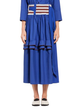 Marni Skirt in poplin knit waist Woman