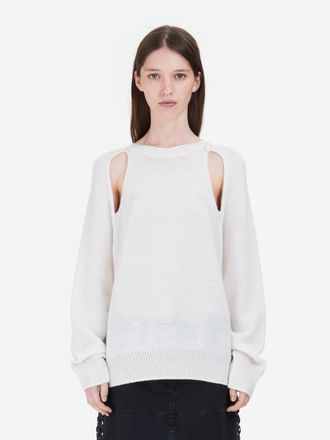 Cut-Out Wool Sweater