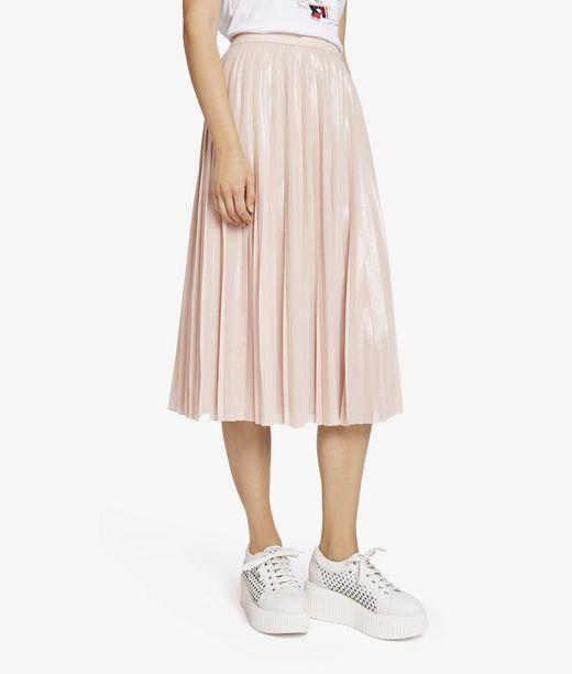 KARL LAGERFELD Georgette Pleated Skirt 12_f