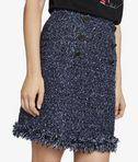 KARL LAGERFELD Bouclé Skirt With Fringes 8_r
