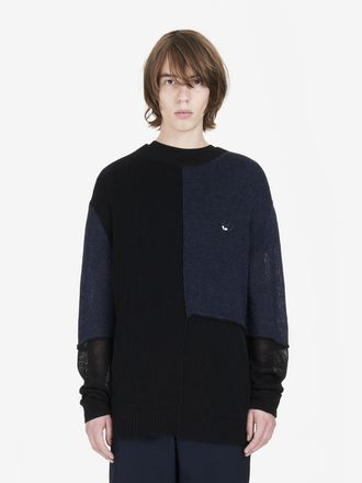 Patched Colour Block Jumper
