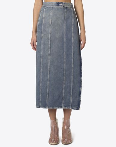MM6 MAISON MARGIELA Long skirt D Deconstructed denim skirt f