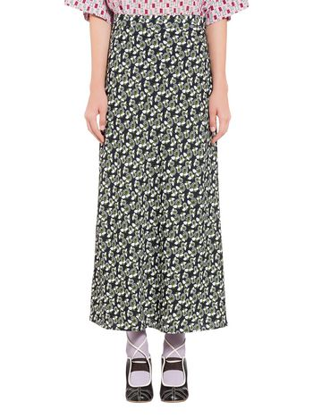 Marni Skirt in viscose Plumeria print Woman