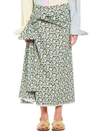 Marni Cotton skirt Plumeria print Woman