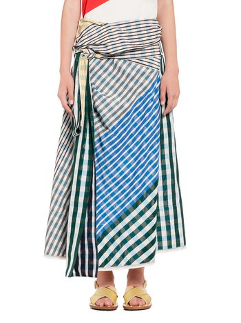 Marni Belted skirt in taffeta with bow Woman