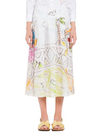 Marni Skirt in cotton Venice print by Maria Magdalena Suarez Woman