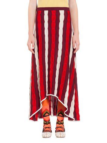 Marni Wool skirt with embossed inlay Woman
