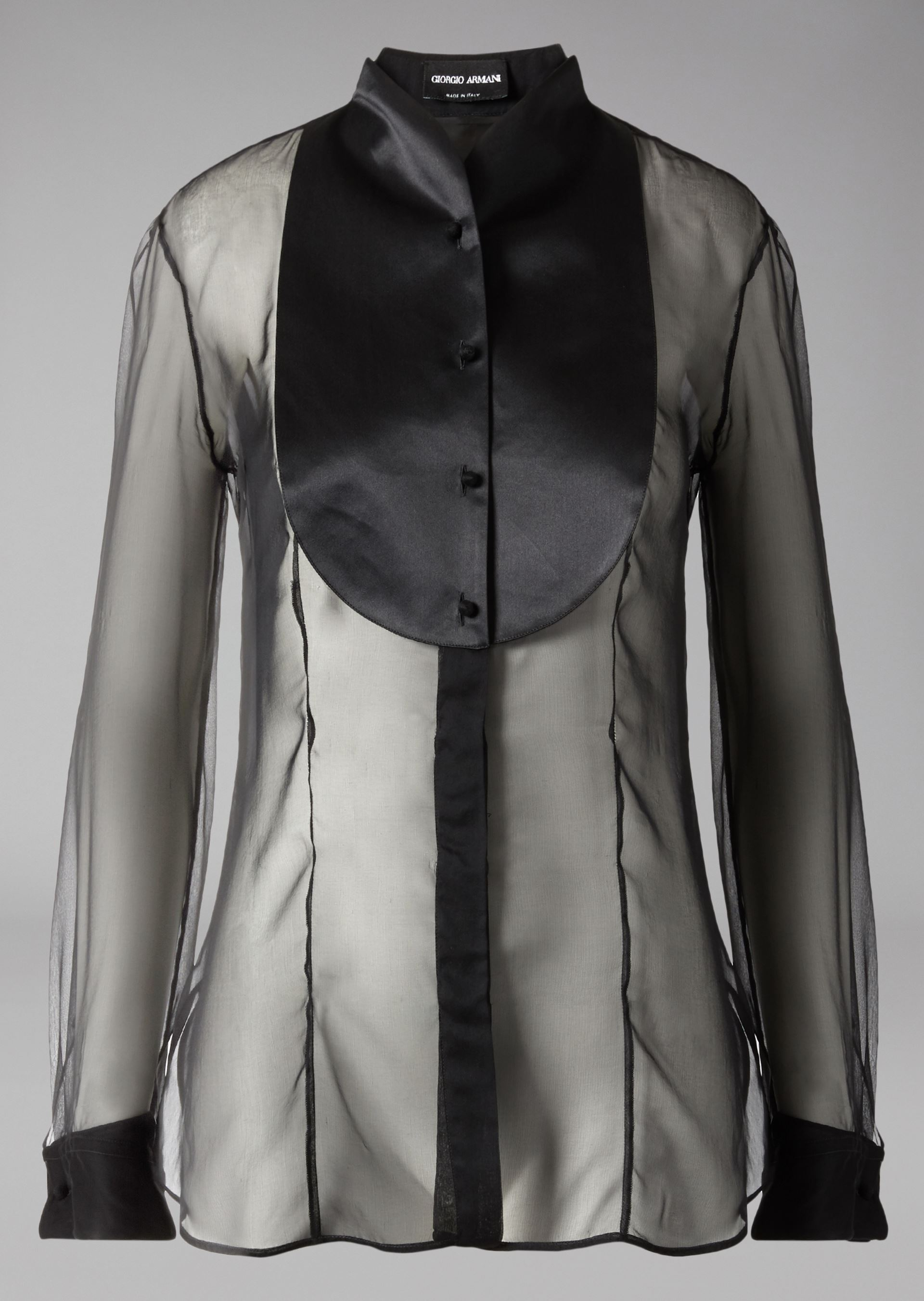 GIORGIO ARMANI SILK DINNER SHIRT Tuxedo Shirt D r