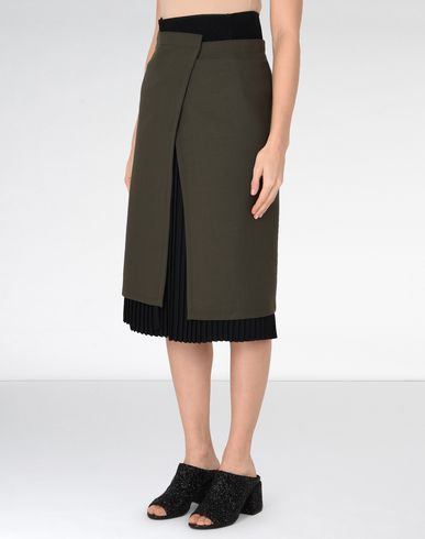MM6 MAISON MARGIELA 3/4 length skirt D Layered mid-length skirt f