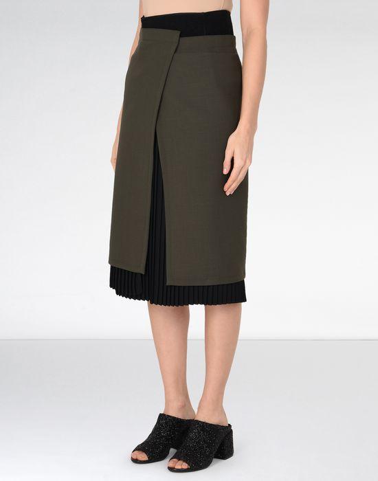 48e1b86d2 Maison Margiela Layered Mid Length Skirt Women | Maison Margiela ...
