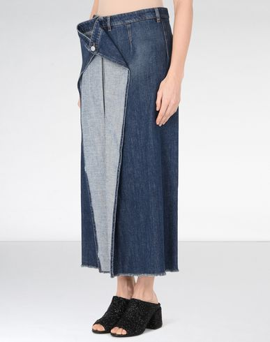 MM6 MAISON MARGIELA Denim skirt D Denim skirt with draped detail f