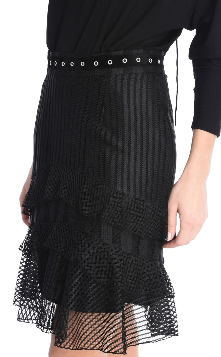 JUST CAVALLI Ruffled mini skirt Knee length skirt [*** pickupInStoreShipping_info ***] e