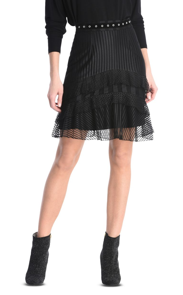 JUST CAVALLI Ruffled mini skirt Knee length skirt Woman f
