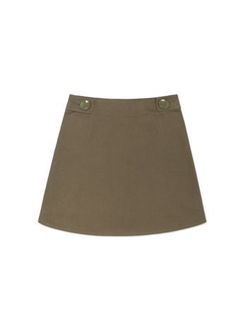 Marni SKIRT IN COTTON WITH BUTTONS DETAILS Woman