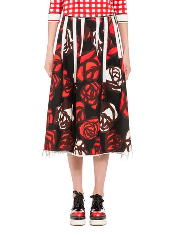Marni Skirt in cotton drill Roma print Woman
