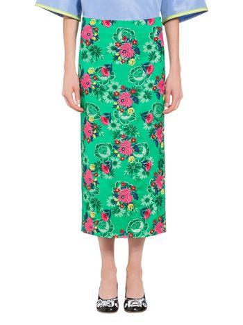 Long skirt in viscose brocade