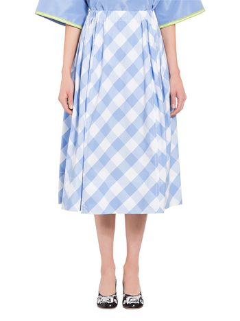 Marni Chequered skirt in Gingham poplin Woman