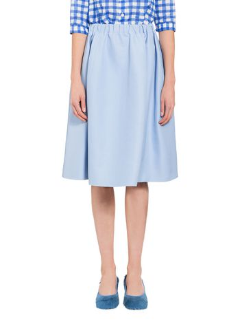 Marni Raw-edged skirt in cotton cady Woman