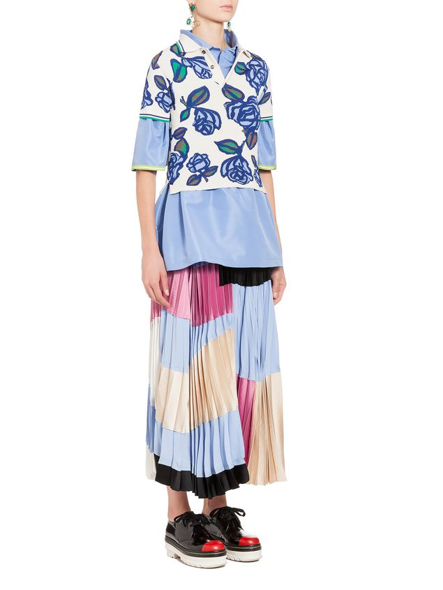 Marni Skirt in washed satin crepe Woman - 4