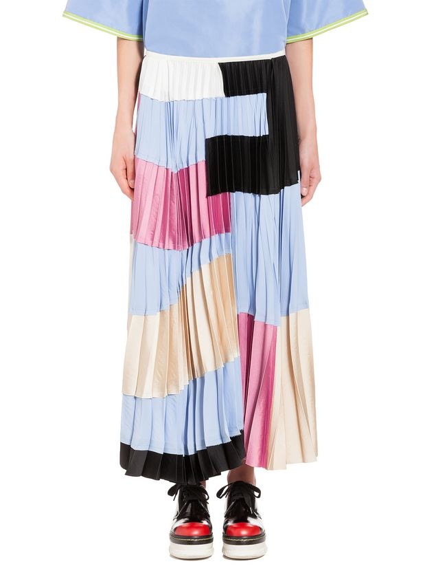 Marni Skirt in washed satin crepe Woman - 1