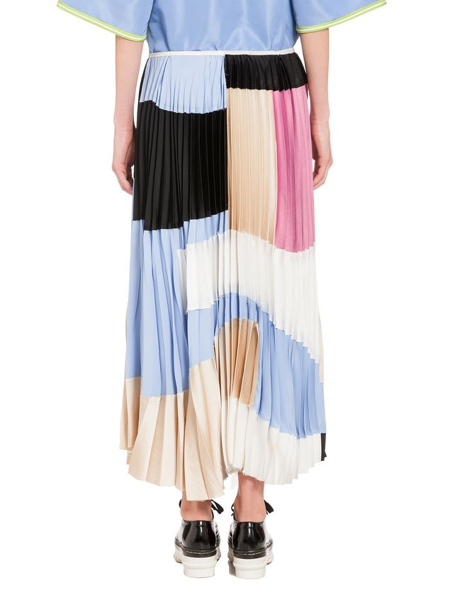 Marni Skirt in washed satin crepe Woman - 3