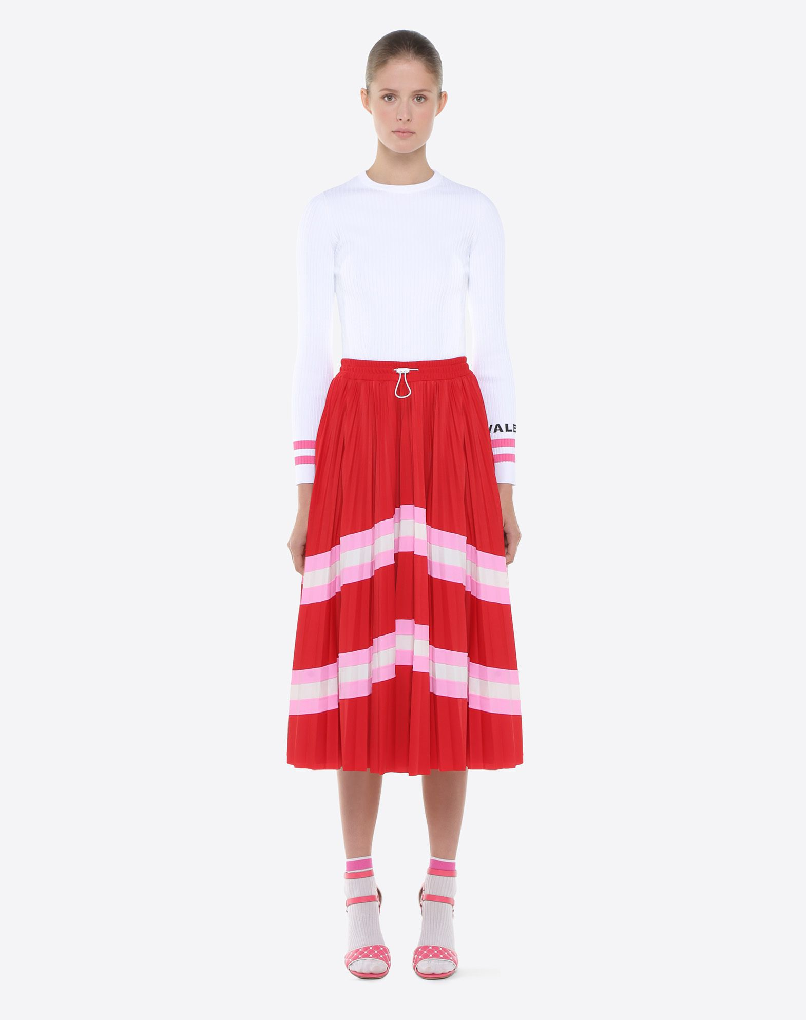 VALENTINO Pleated Skirt Skirt D r