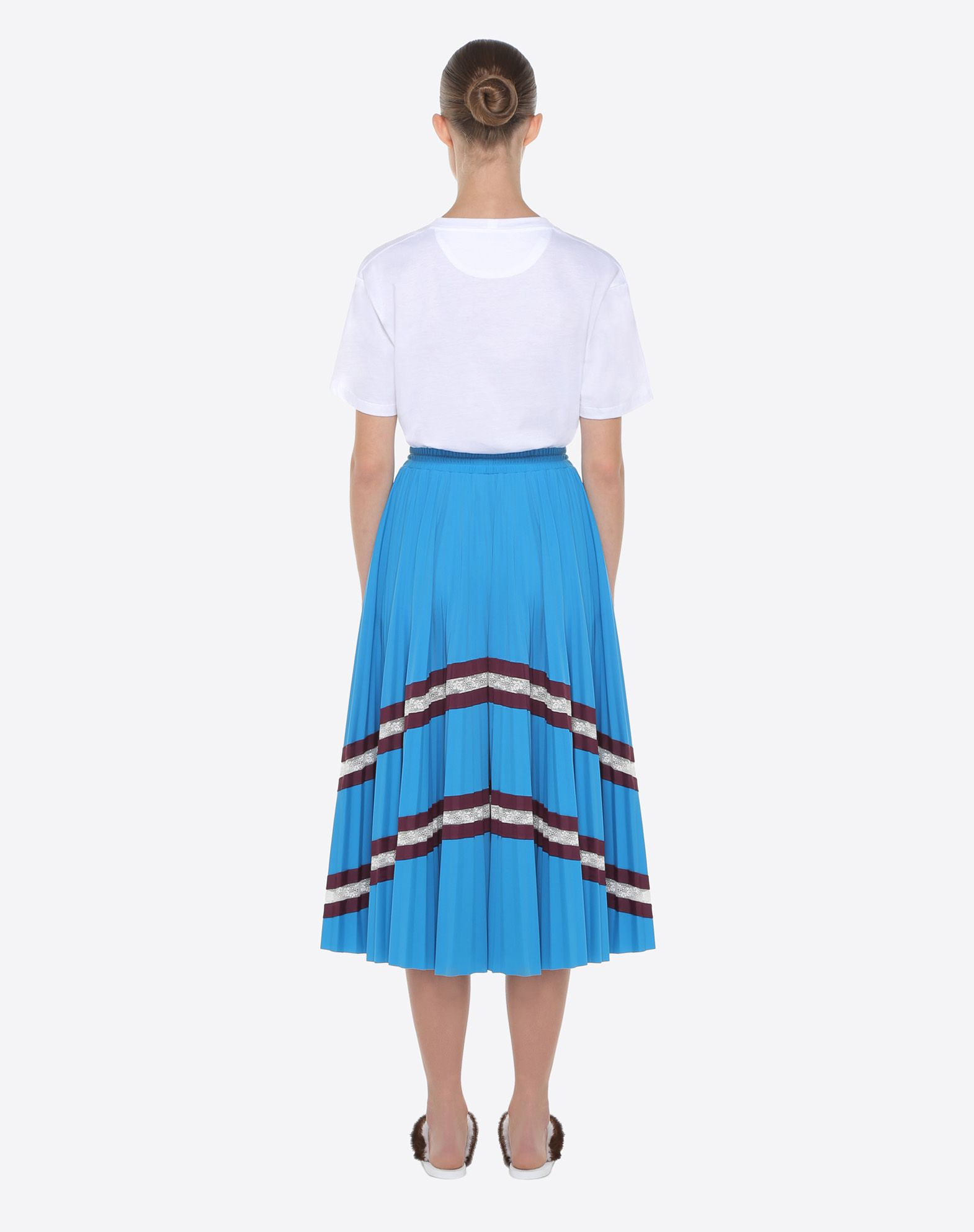 VALENTINO Pleated skirt with lace Skirt D e