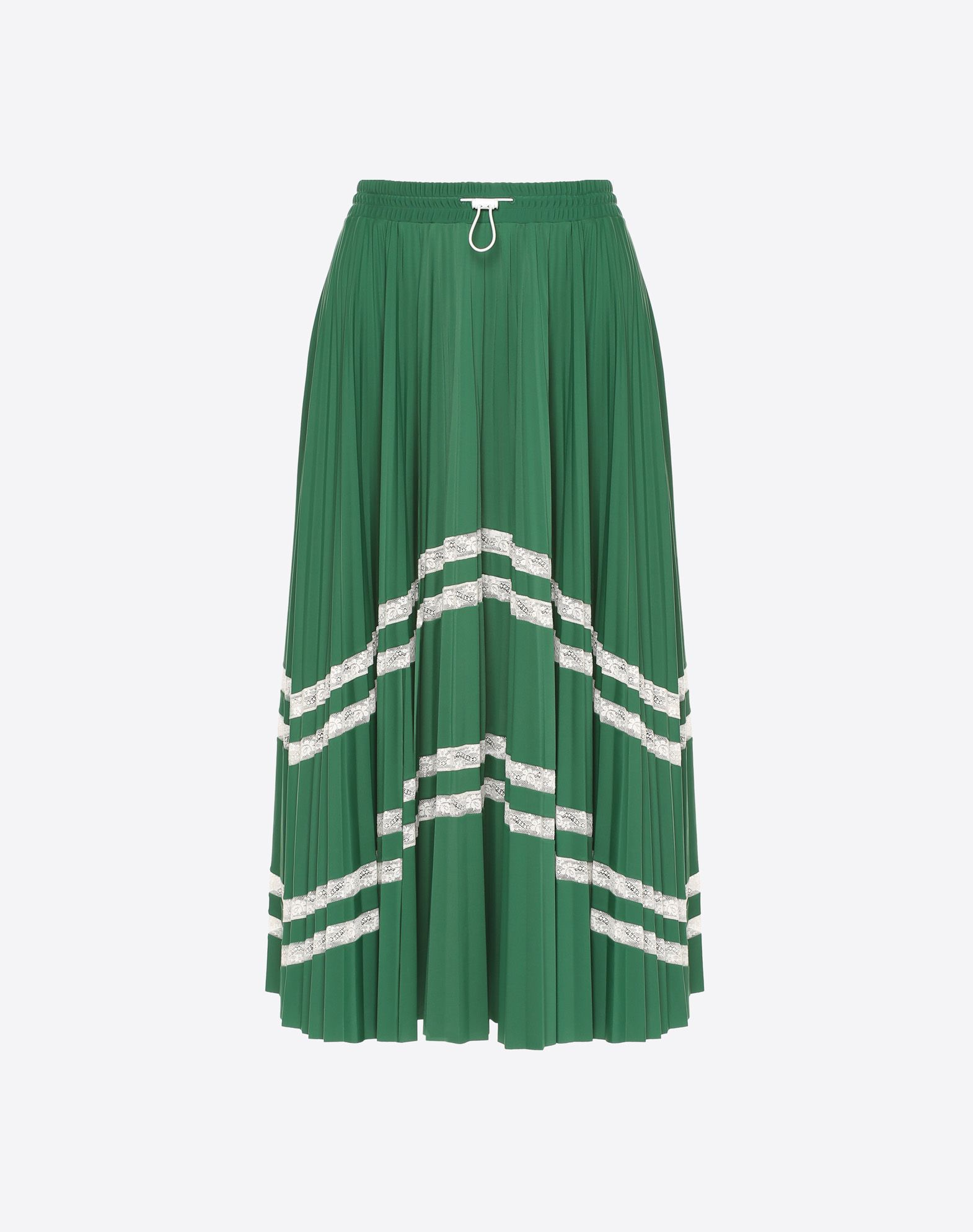 VALENTINO Pleated skirt with lace Skirt D f