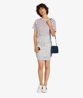 KARL LAGERFELD CAPTAIN KARL SKIRT W/PATCHES
