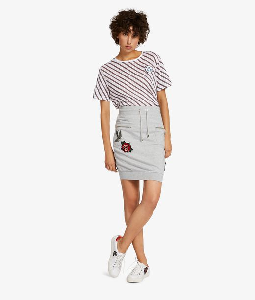 KARL LAGERFELD Captain Karl Skirt W/Patches  12_f