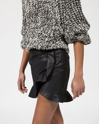 ISABEL MARANT SHORT SKIRT Woman MOUNA ruffle skirt  r