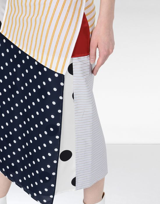 MM6 MAISON MARGIELA Cotton stripe wrap-around skirt 3/4 length skirt [*** pickupInStoreShipping_info ***] a
