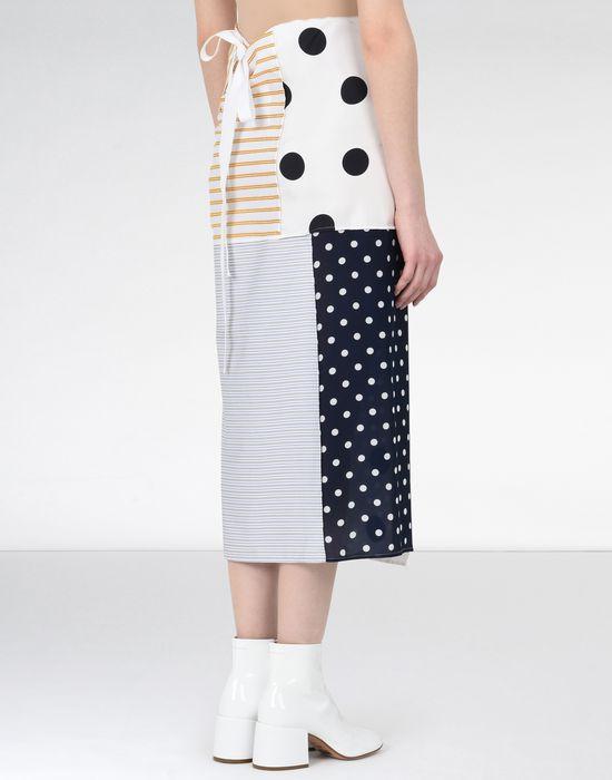MM6 MAISON MARGIELA Cotton stripe wrap-around skirt 3/4 length skirt [*** pickupInStoreShipping_info ***] d