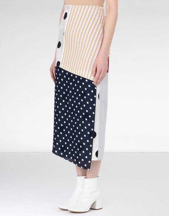 MM6 MAISON MARGIELA Cotton stripe wrap-around skirt 3/4 length skirt [*** pickupInStoreShipping_info ***] f