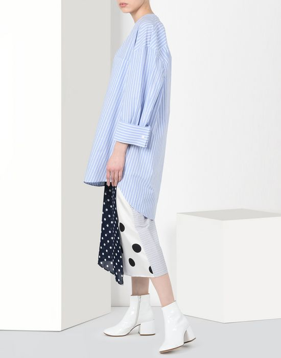 MM6 MAISON MARGIELA Cotton stripe wrap-around skirt 3/4 length skirt [*** pickupInStoreShipping_info ***] r