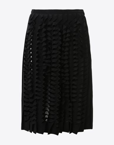 MAISON MARGIELA Knee length skirt Woman Cut-out pleated skirt f