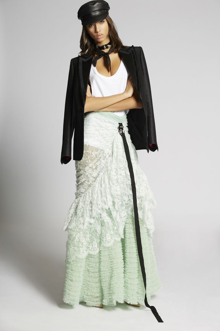 DSQUARED2 Long Pull Up Prom Skirt Skirt Woman