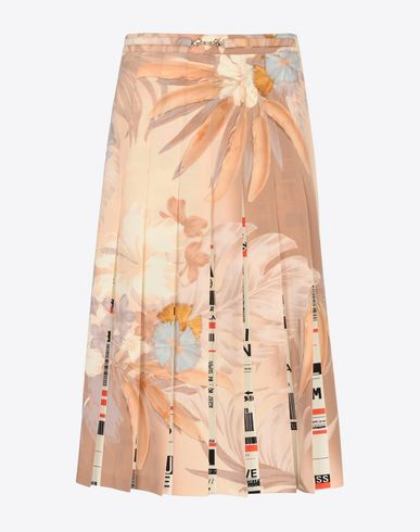 MAISON MARGIELA 3/4 length skirt Woman Skirt with contrasting pleats f