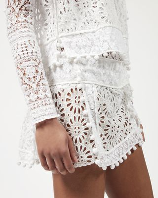 ISABEL MARANT SHORT SKIRT Woman KRISTA skirt in broderie anglaise  r
