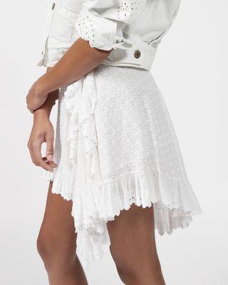 ISABEL MARANT SHORT SKIRT Woman ZANA asymmetric skirt  r