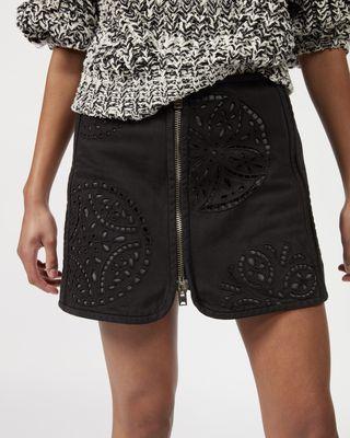 ISABEL MARANT SHORT SKIRT Woman RILZEN zipped skirt  r