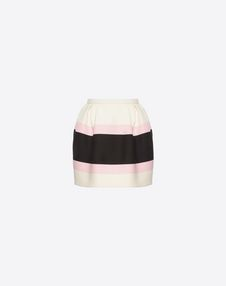 VALENTINO Falda D Macro Bayadère Mini Skirt f