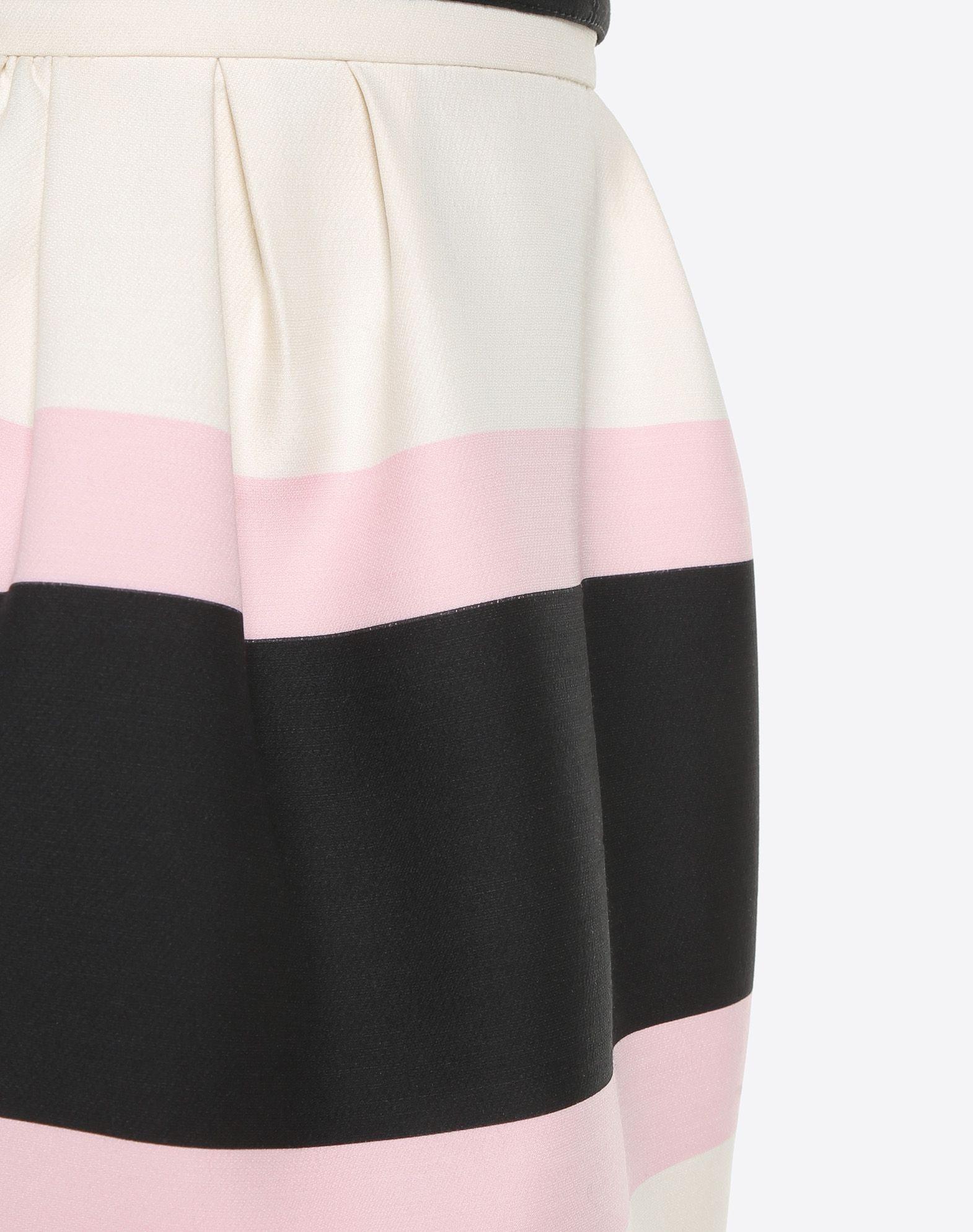 VALENTINO Macro Bayadère Mini Skirt Falda D a