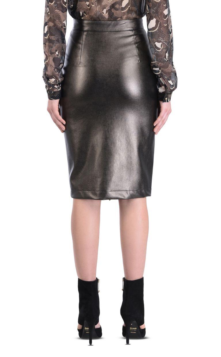 JUST CAVALLI Leather-look midi skirt Knee length skirt [*** pickupInStoreShipping_info ***] d